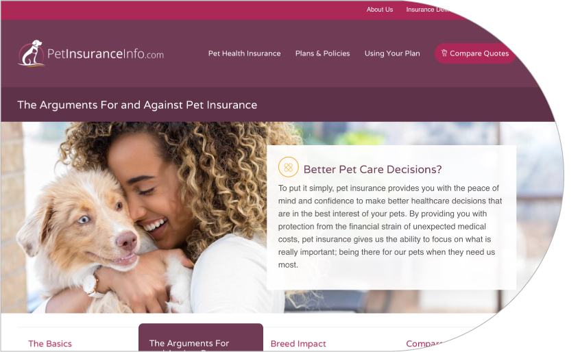 Lifelearn Launches Petinsuranceinfo Com To Help Pet Owners To Learn About Pet Insurance And To Easily Compare Pet Insurance Quotes Lifelearn Inc Lifelearn Inc